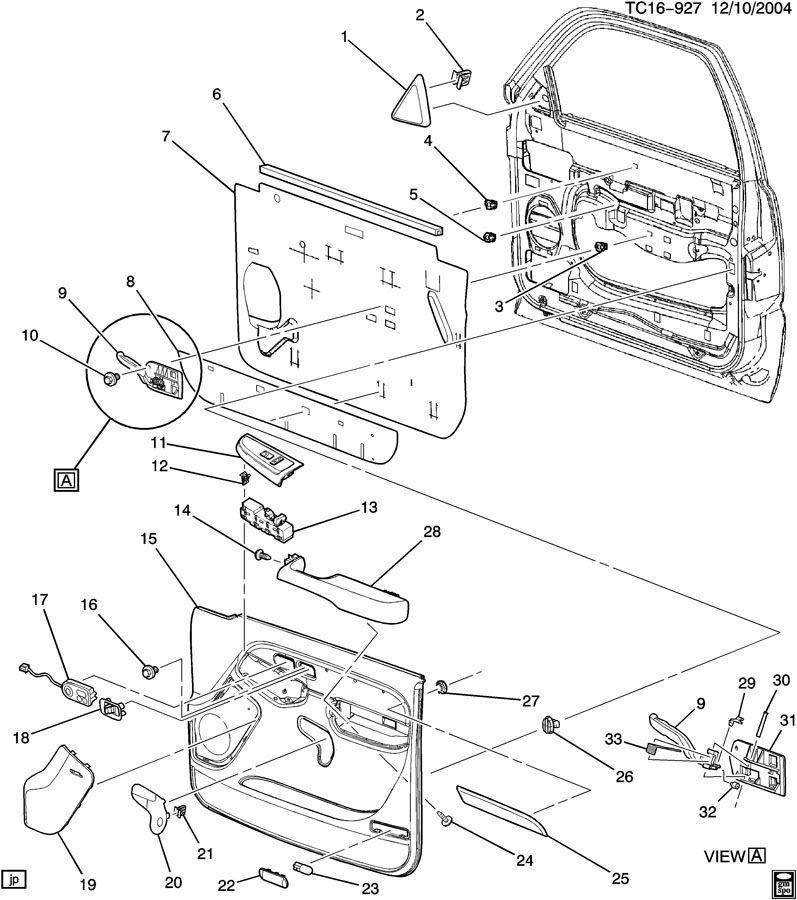 2002 Chevrolet AVALANCHE DOOR TRIM/SIDE FRONT-PASSENGER