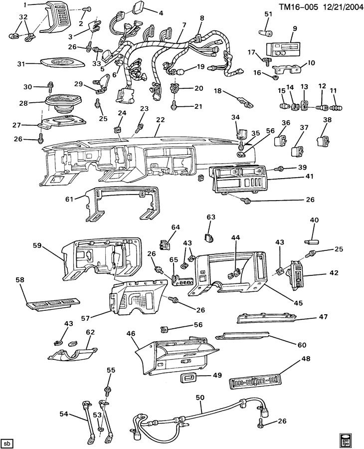 INSTRUMENT PANEL & RELATED PARTS