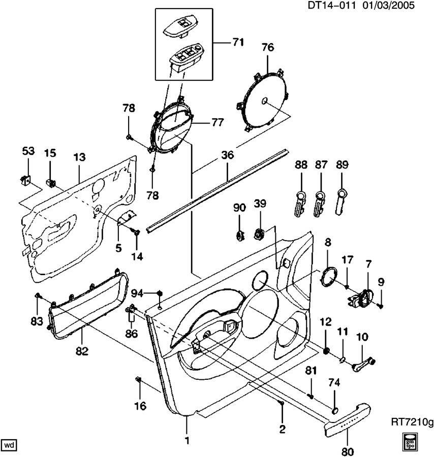Chevrolet Aveo TRIM/FRONT DOOR