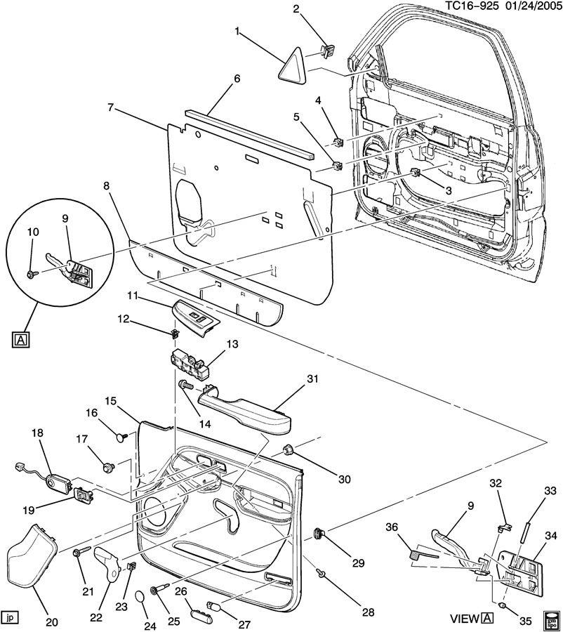 2004 Chevrolet Silverado DOOR TRIM/SIDE FRONT-PASSENGER