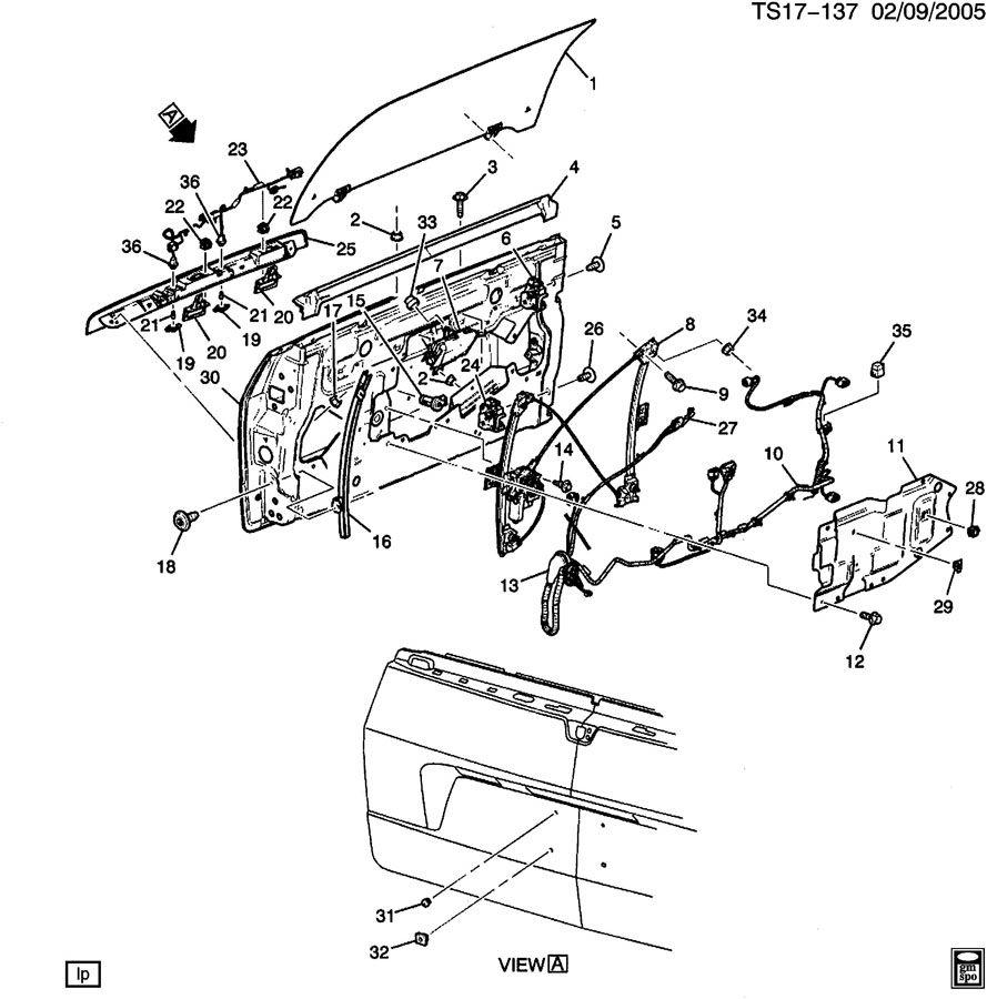 Chevrolet TRAILBLAZER ST158(36) ENDGATE PART 2;