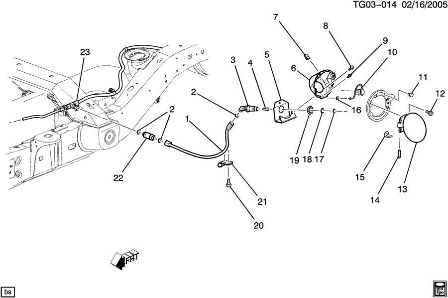 Chevrolet EXPRESS FUEL TANK FILLER PIPES & HOSES