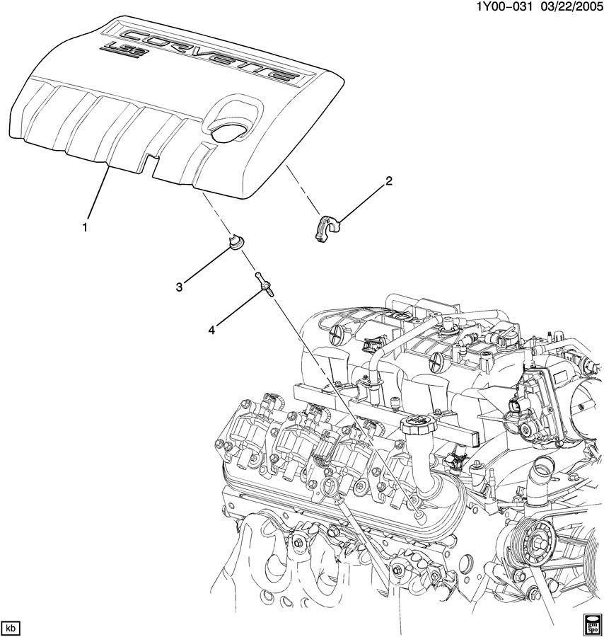 2007 Chevrolet Corvette INTAKE MANIFOLD SHIELD/COVERS