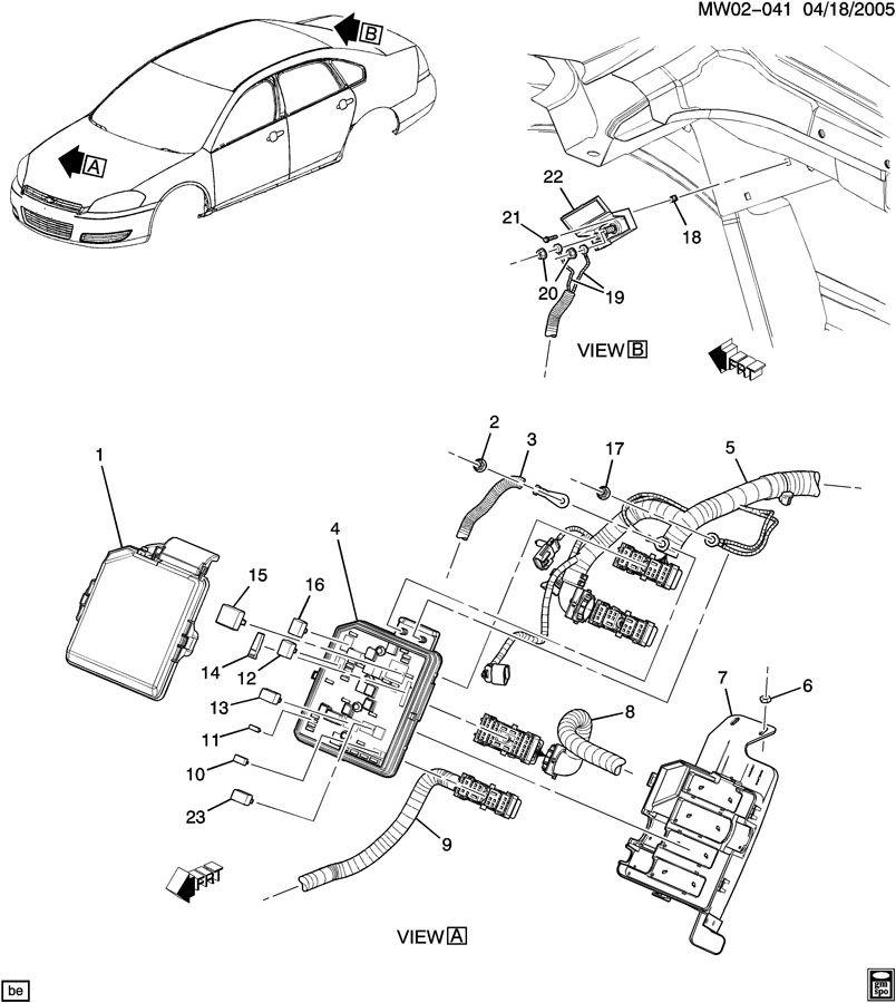 2006 Chevrolet Monte Carlo LT 3.5 BLOCK-UNDERHOOD ELECTRICAL