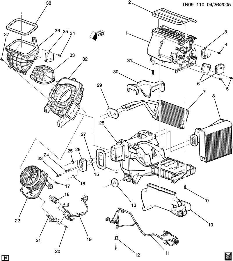 Hummer A/C & HEATER MODULE ASM