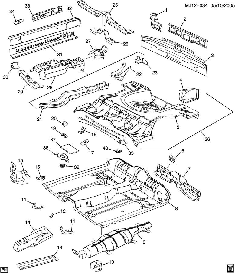 SHEET METAL/BODY PART 4 UNDERBODY