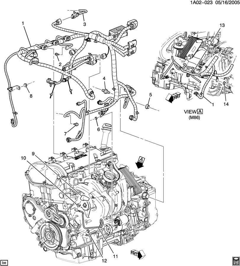 chevy cobalt engine parts diagram