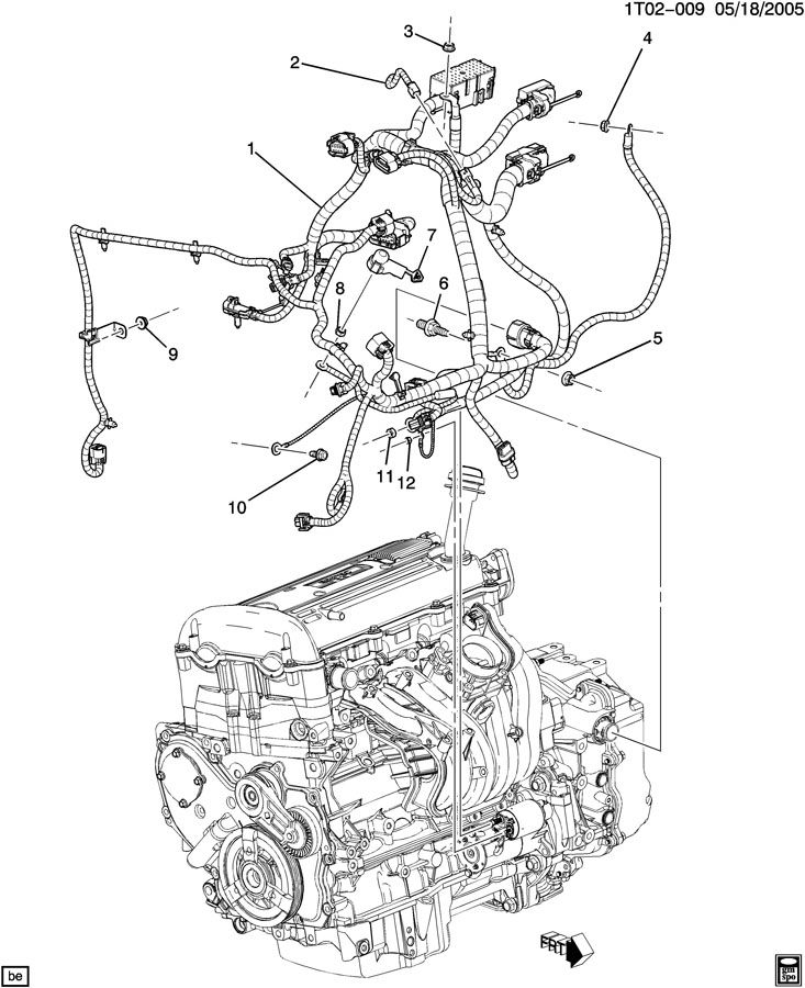 A WIRING HARNESS/ENGINE (L61/2.2D); A WIRING HARNESS