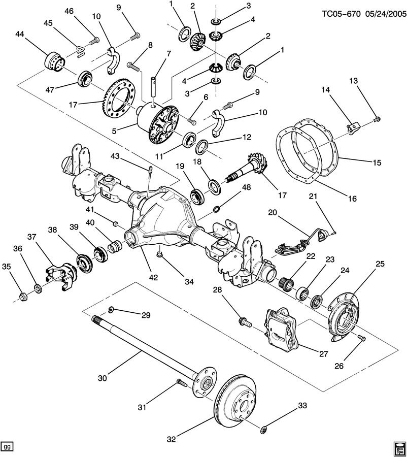 Gmc Rear Differential Diagram, Gmc, Free Engine Image For