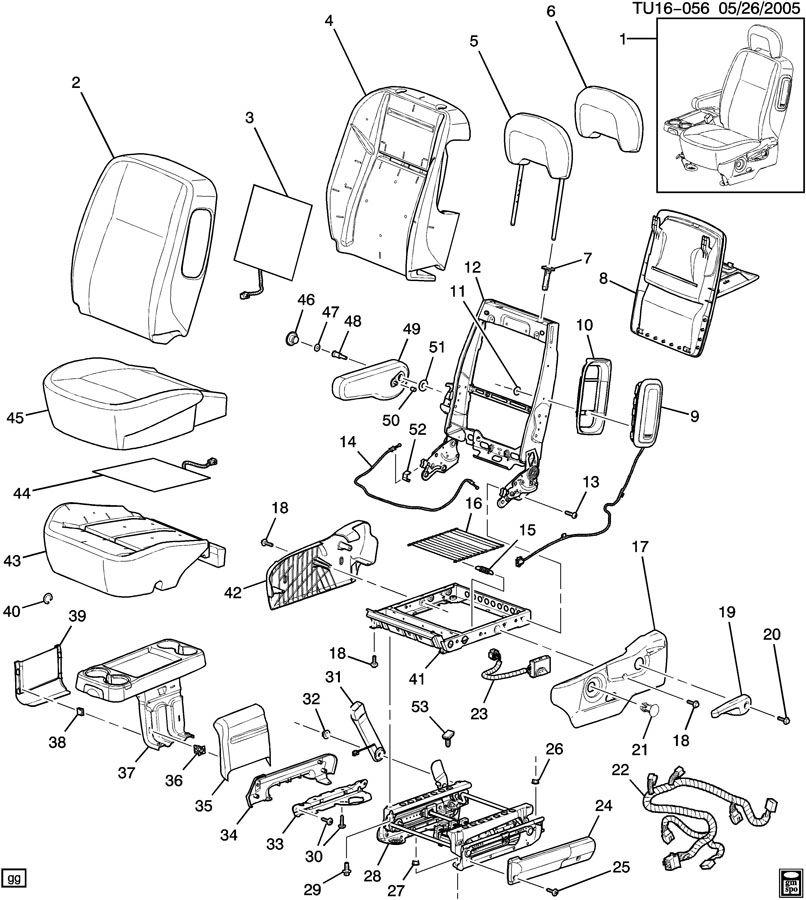 Chevrolet UPLANDER DRIVER SEAT/BUCKET