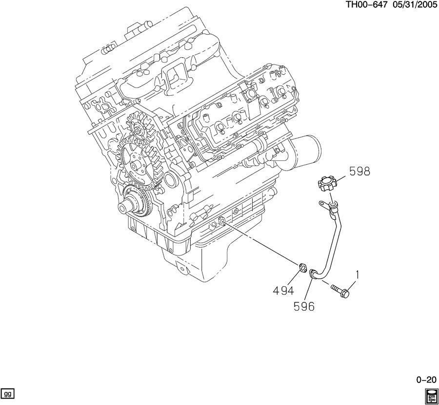 ENGINE ASM-6.6L V8 DIESEL OIL FILLER TUBE TO OIL PAN