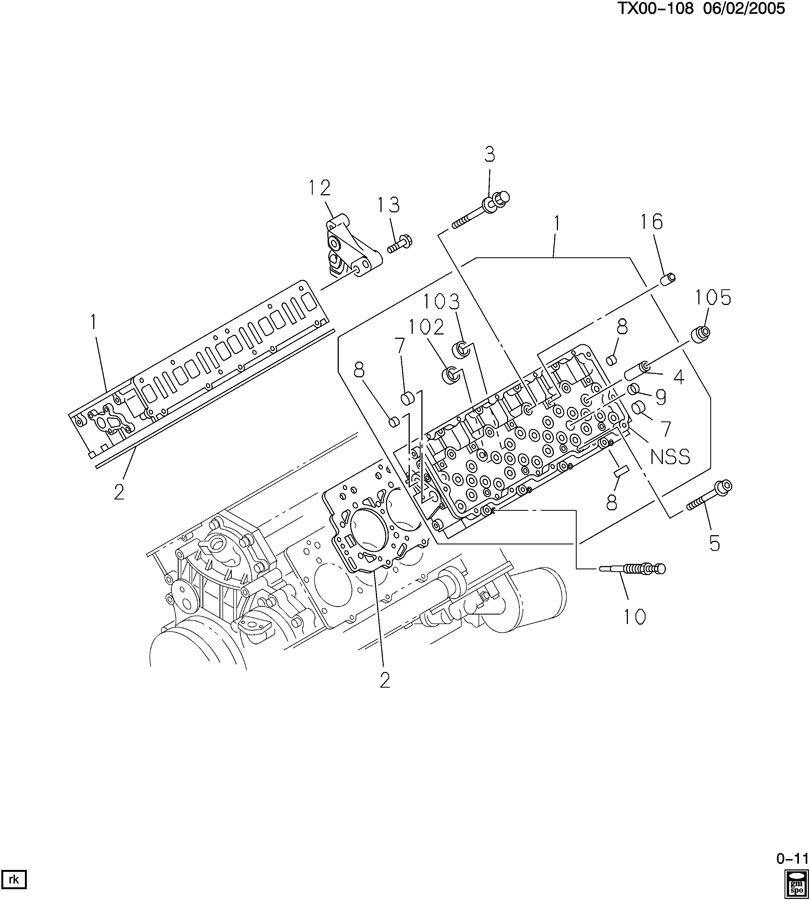 Chevrolet EXPRESS ENGINE ASM-6.6L V8 DIESEL CYLINDER HEAD