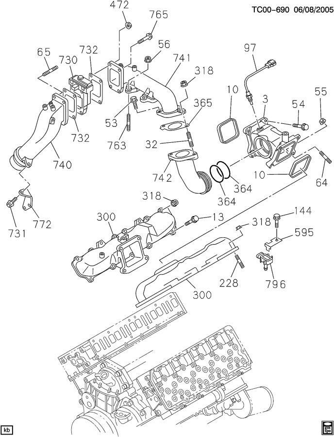 Cadillac ENGINE ASM-6.6L V8 DIESEL INTAKE MANIFOLD