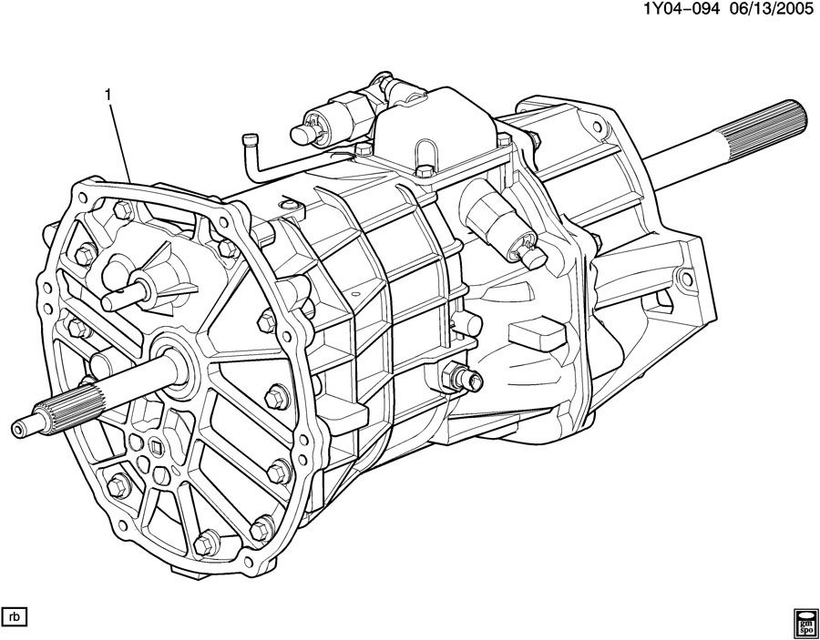 Chevrolet Corvette 6-SPEED MANUAL TRANSMISSION PART 1 ASSEMBLY
