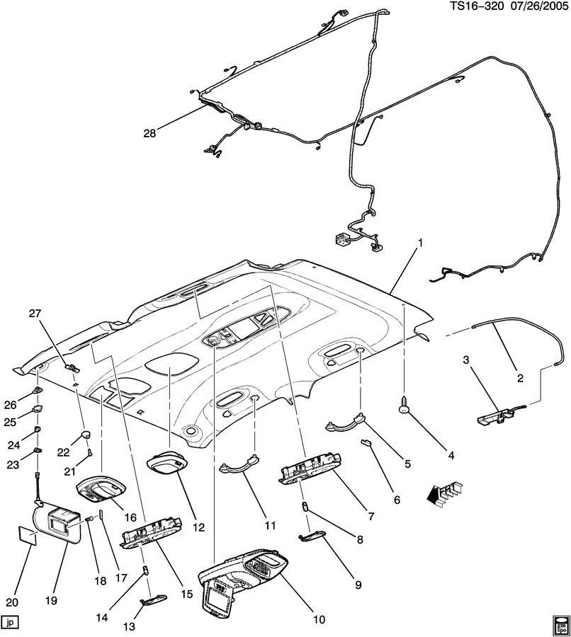 Chevrolet TRAILBLAZER TRIM/INTERIOR-ROOF & SUNSHADE