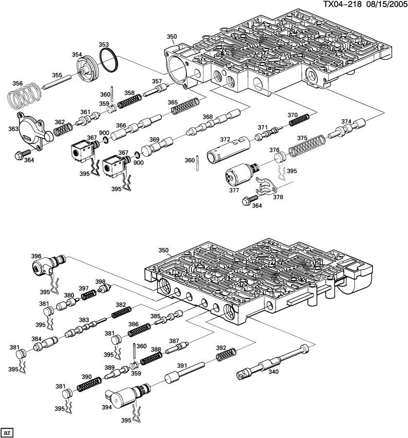 4t65e Transmission Valve Body Exploded View Of Wiring