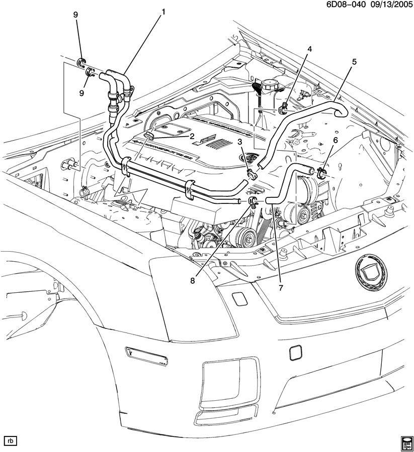 2007 cadillac srx engine diagram
