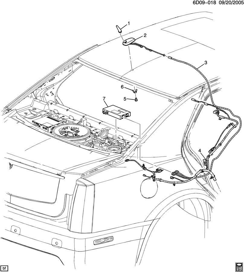 2006 Cadillac STS ANTENNA/DIGITAL AUDIO