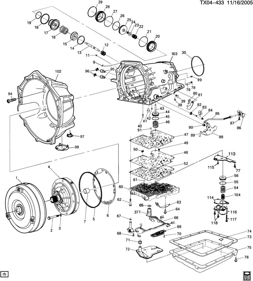 Automatic Transmission (M30) Part 2 (4L60-E) Case