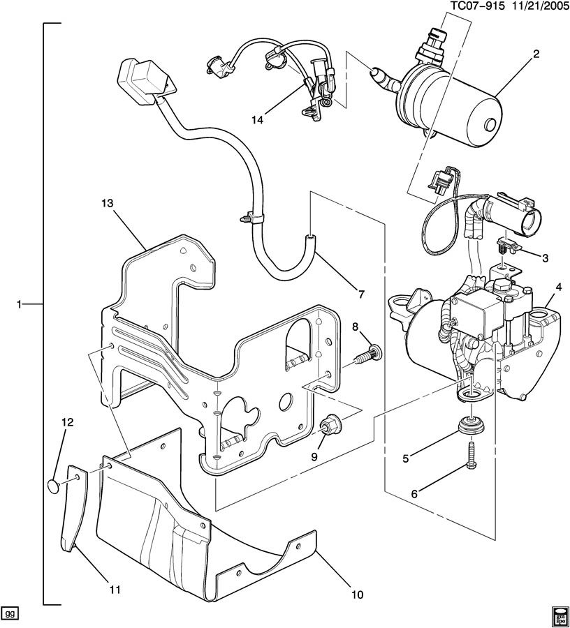 2006 Cadillac Escalade Transmission Diagram