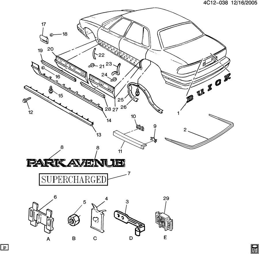 1996 Buick Park Avenue ULTRA MOLDINGS/BODY-BELOW BELT