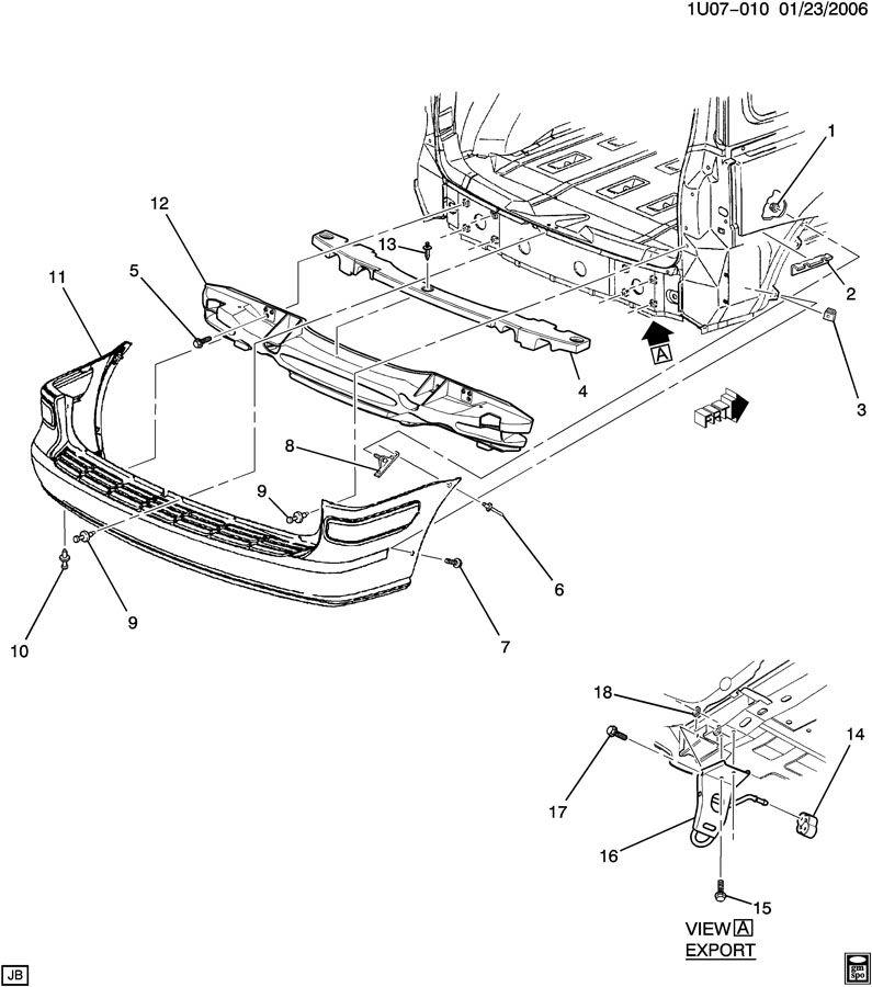 2002 Chevrolet Venture BUMPER/REAR