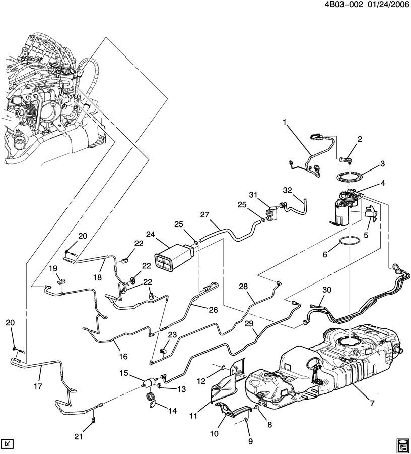 Buick Rendezvous FUEL SUPPLY SYSTEM