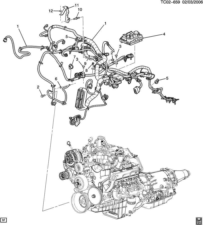 1999 GMC Sierra WIRING HARNESS/ENGINE