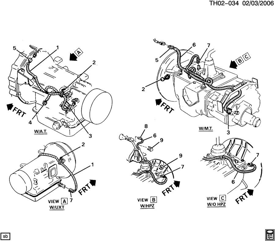Exploded View Of The 97 Chevy Truck Transmission Wire