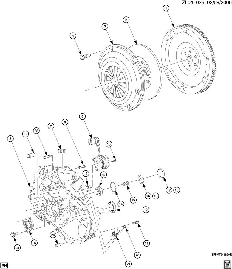 5-SPEED MANUAL TRANSAXLE/CLUTCH HOUSING; CLUTCH & HOUSING