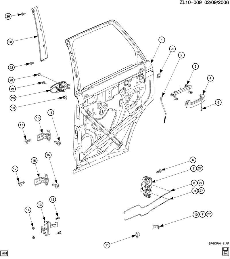 DOOR/REAR-STRUCTURE, LOCKS & HANDLES