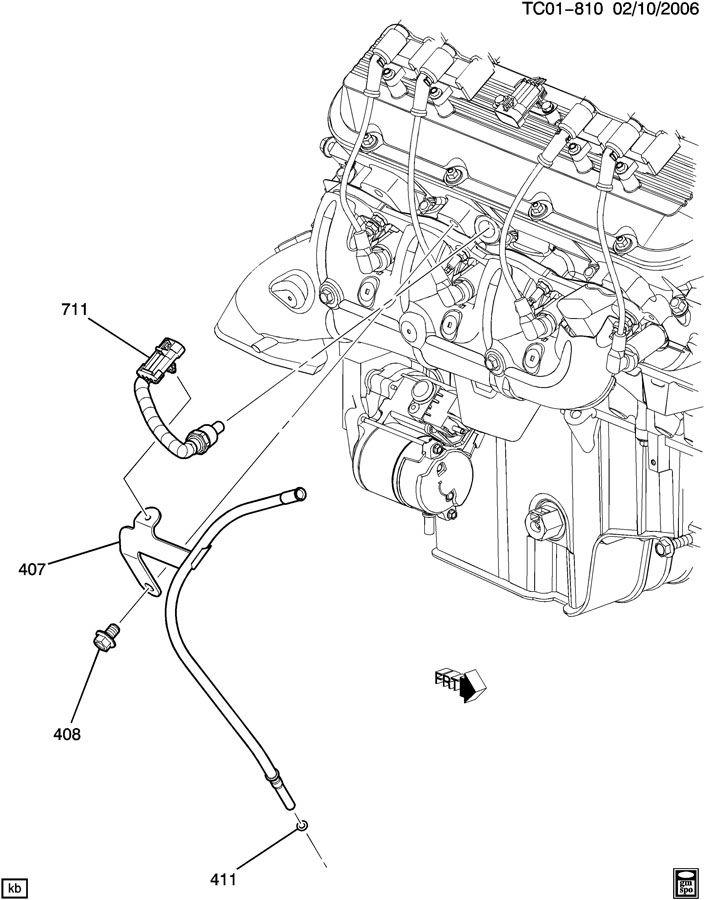 ENGINE COOLING SYSTEM SENSOR & BRACKET