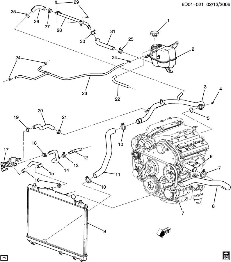 2003 Cadillac cts parts diagram