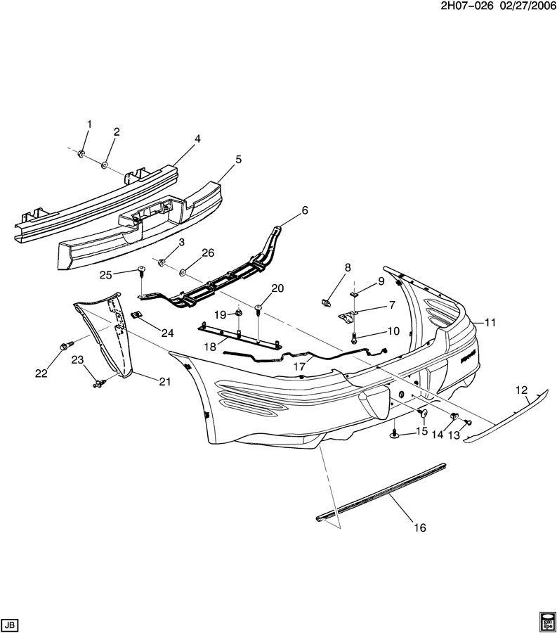 Pontiac Bonneville BUMPER/REAR
