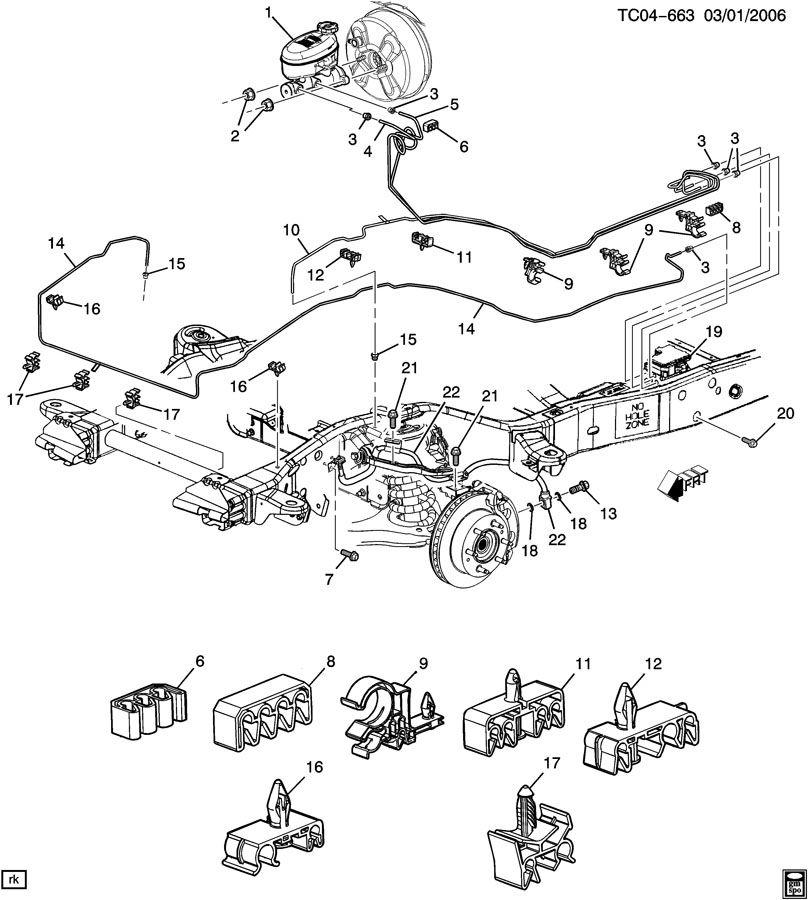 2003 Chevrolet SUBURBAN BRAKE LINES/FRONT
