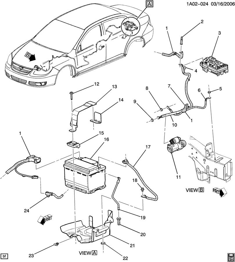 Chevrolet BATTERY MOUNTING & CABLES