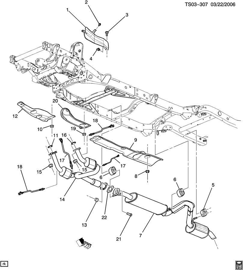 2005 Chevrolet TRAILBLAZER EXHAUST SYSTEM