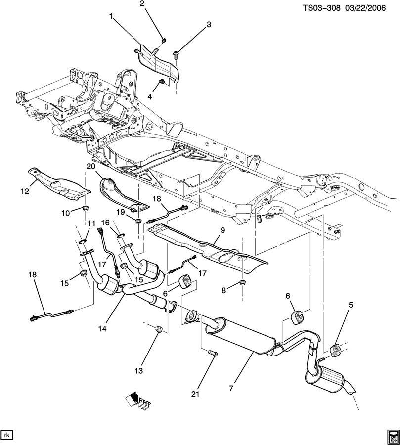 Chevrolet TRAILBLAZER EXHAUST SYSTEM