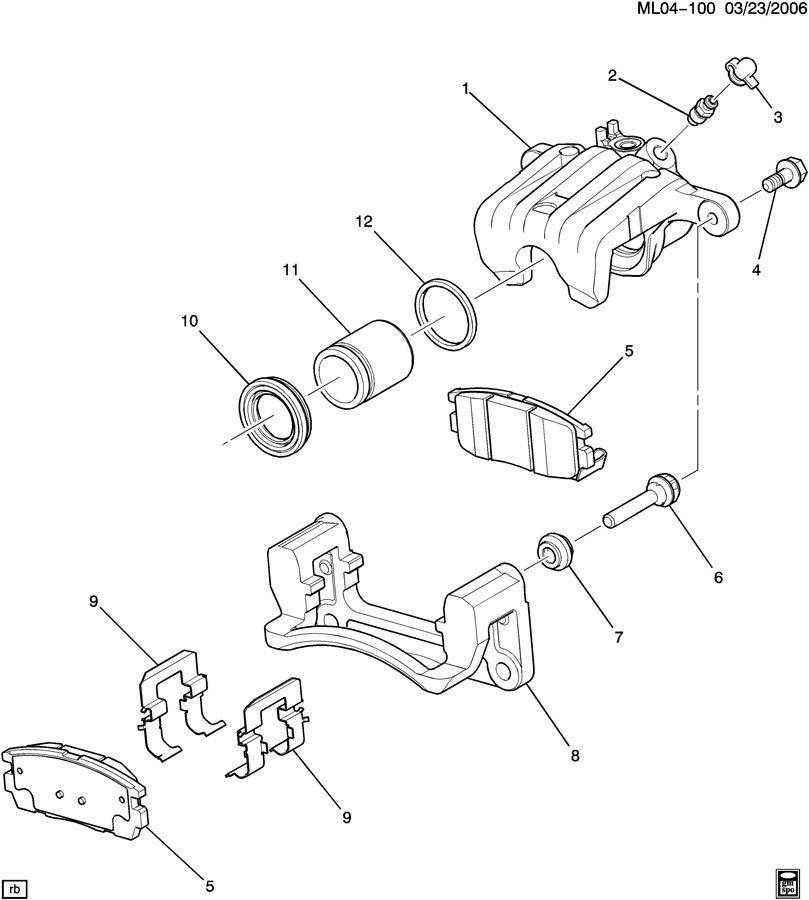 Chevrolet Equinox BRAKE CALIPER/REAR