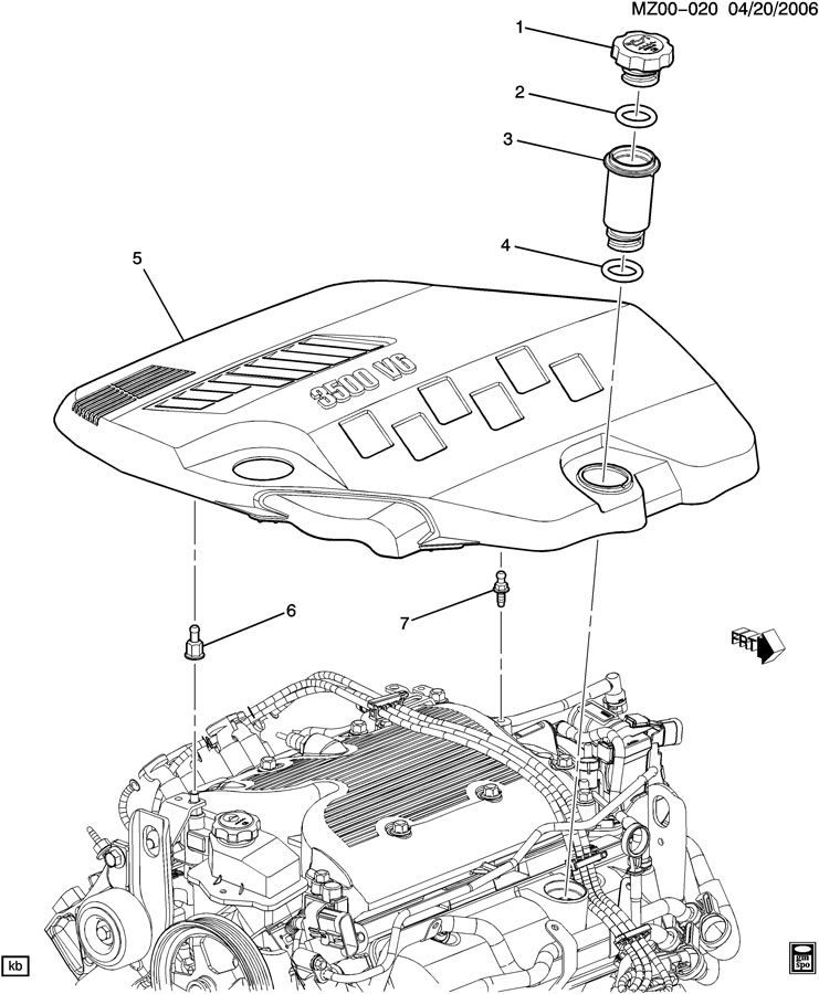 2009 Chevrolet Malibu INTAKE MANIFOLD SHIELD/COVERS