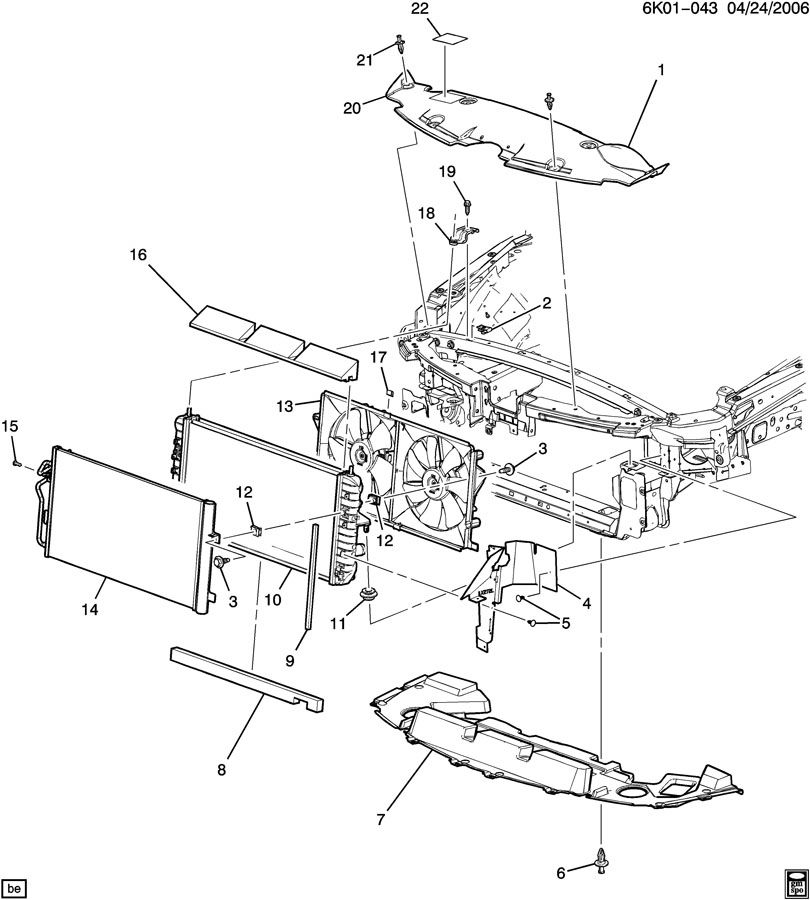 RADIATOR MOUNTING & RELATED PARTS