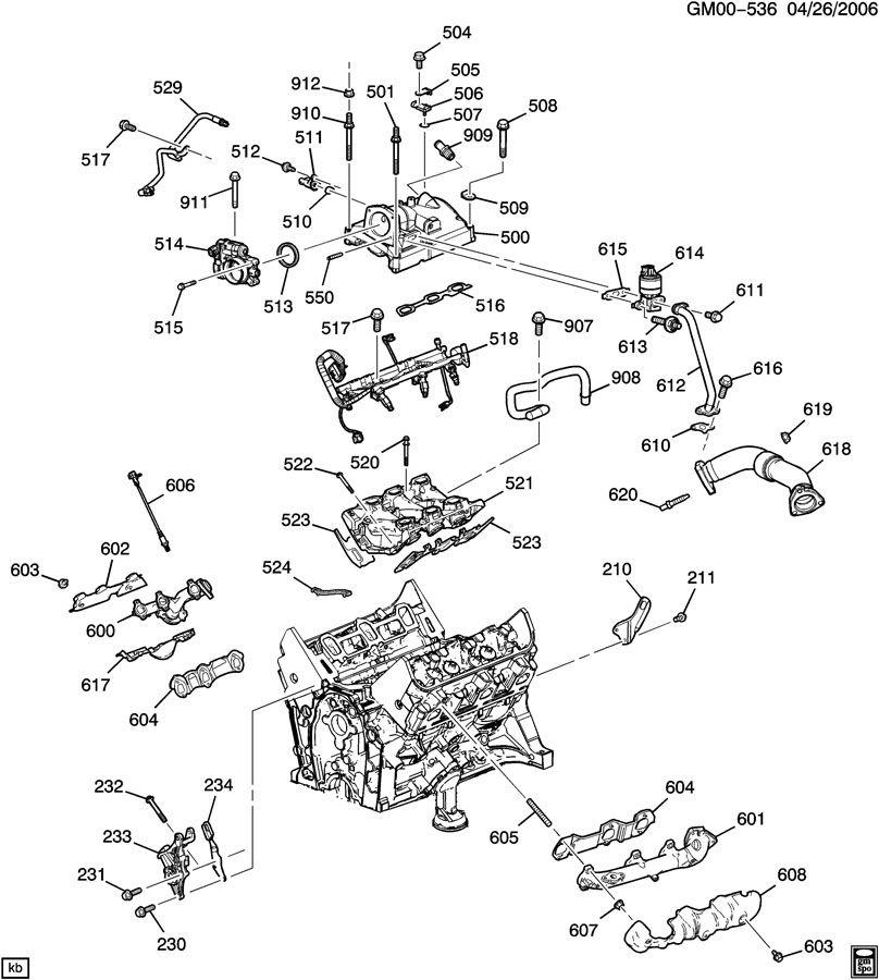ENGINE ASM-3.4L V6 PART 5 MANIFOLDS & RELATED PARTS