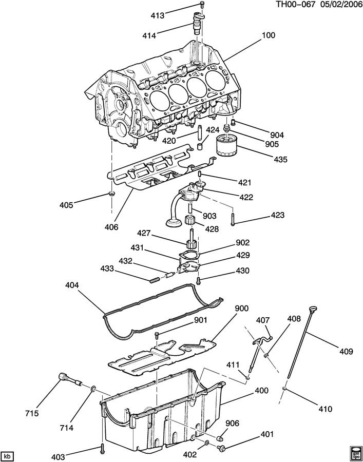 ENGINE ASM-8.1L V8 PART 4 OIL PUMP,PAN & RELATED PARTS