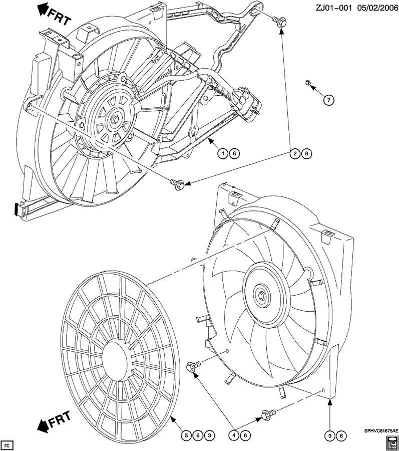 Saturn ENGINE COOLANT FAN