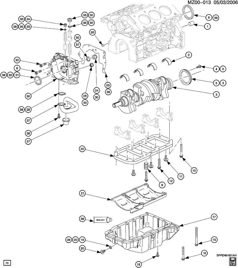 ENGINE ASM-3.0L V6 CRANKSHAFT, OIL PUMP & OIL PAN