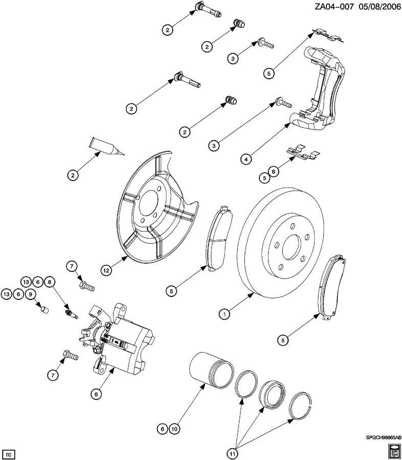 Service manual [2005 Saturn Ion Rear Caliper Seal Change