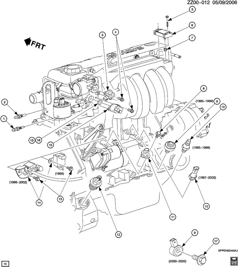 ENGINE ASM-1.9L L4 CONTROL SENSORS