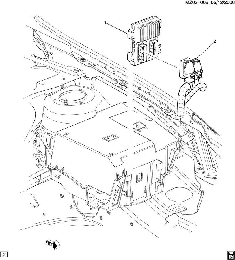 2008 Pontiac G6 E.C.M. MODULE & WIRING HARNESS