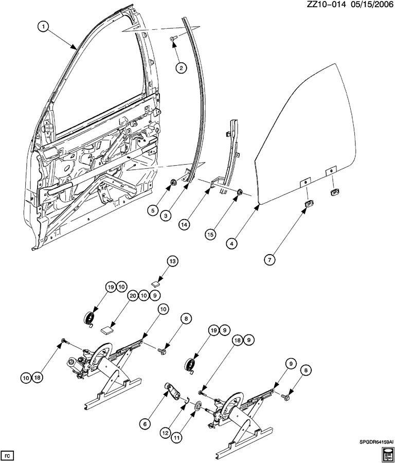 DOOR/FRONT-GLASS & WINDOW REGULATOR