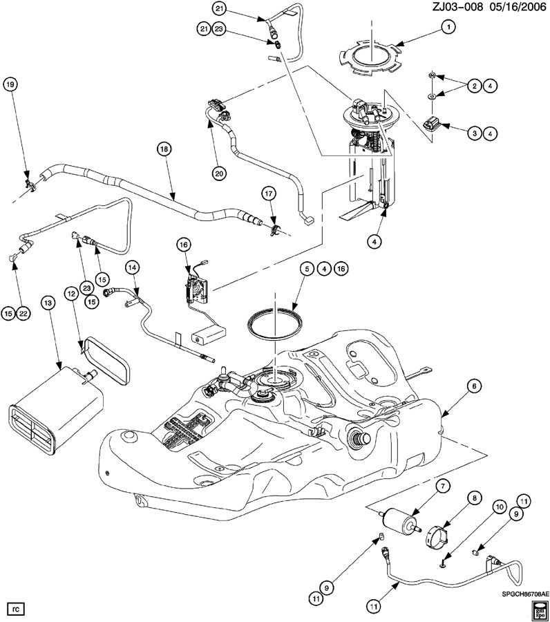 FUEL TANK & RELATED PARTS